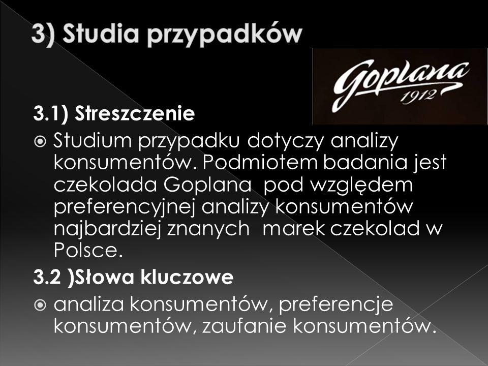  Goplana to jedna z najstarszych polskich marek, oferująca wyroby czekoladowe.
