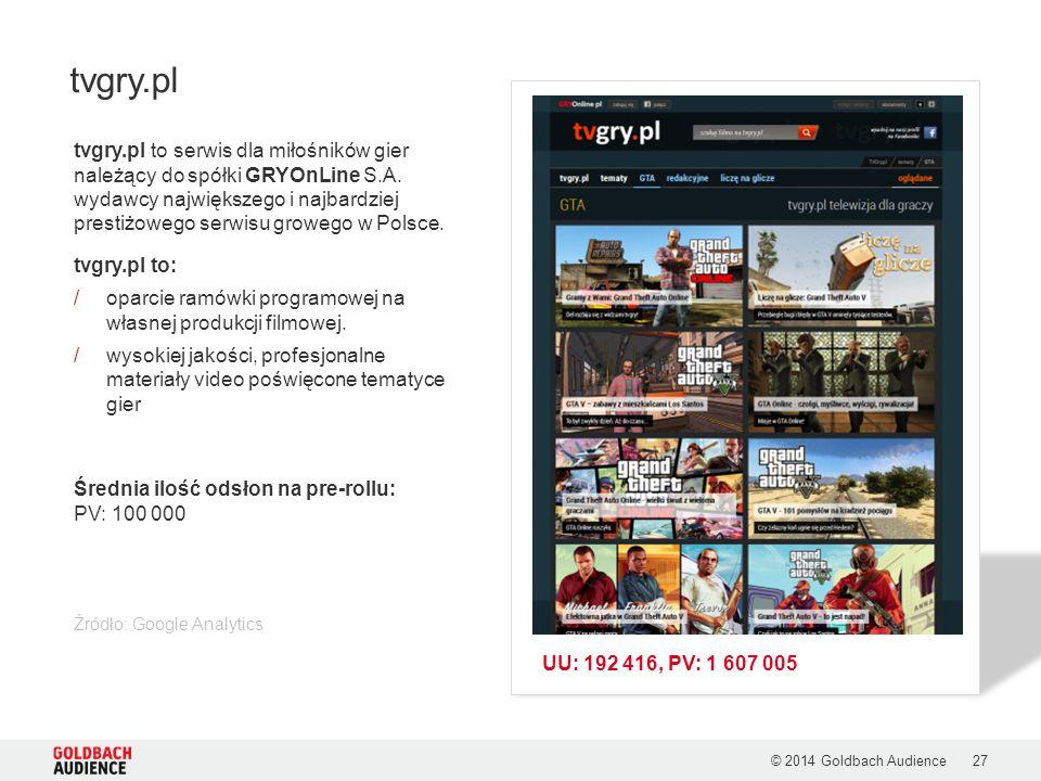 tvgry.pl to serwis dla miłośników gier należący do spółki GRYOnLine S.A. wydawcy największego i najbardziej prestiżowego serwisu growego w Polsce. tvg