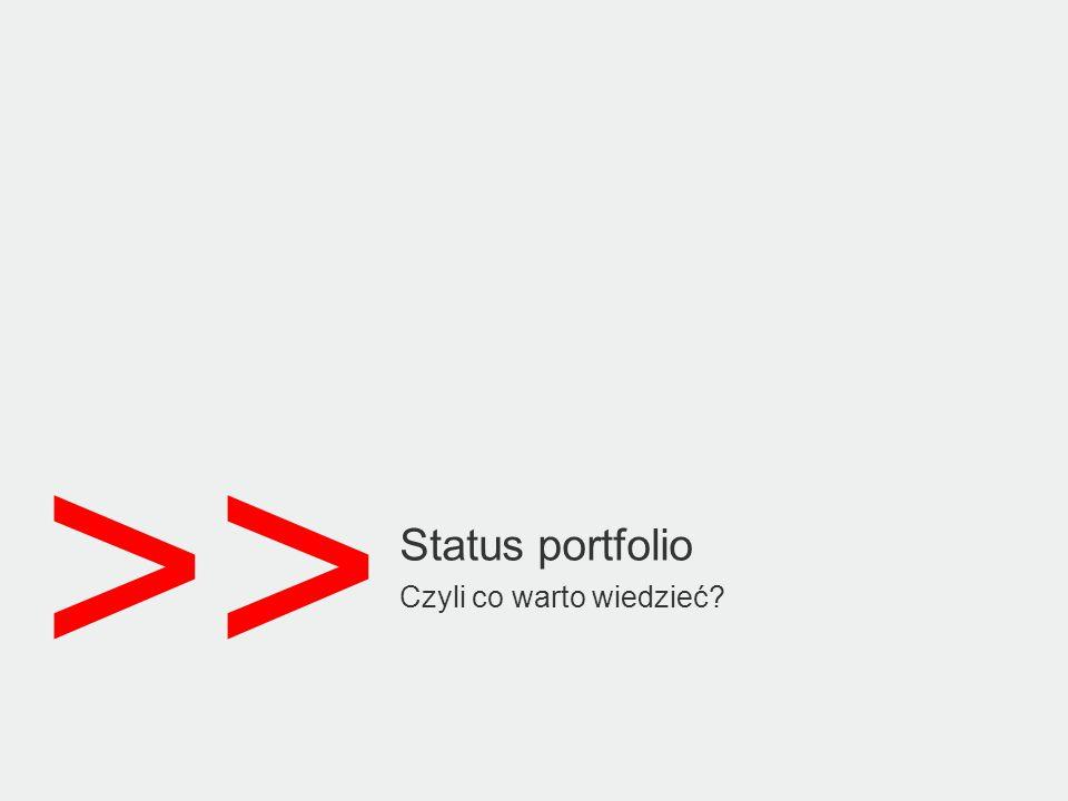 >> Status portfolio Czyli co warto wiedzieć?