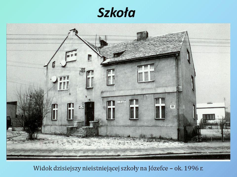 Szkoła Widok dzisiejszy nieistniejącej szkoły na Józefce – ok. 1996 r.