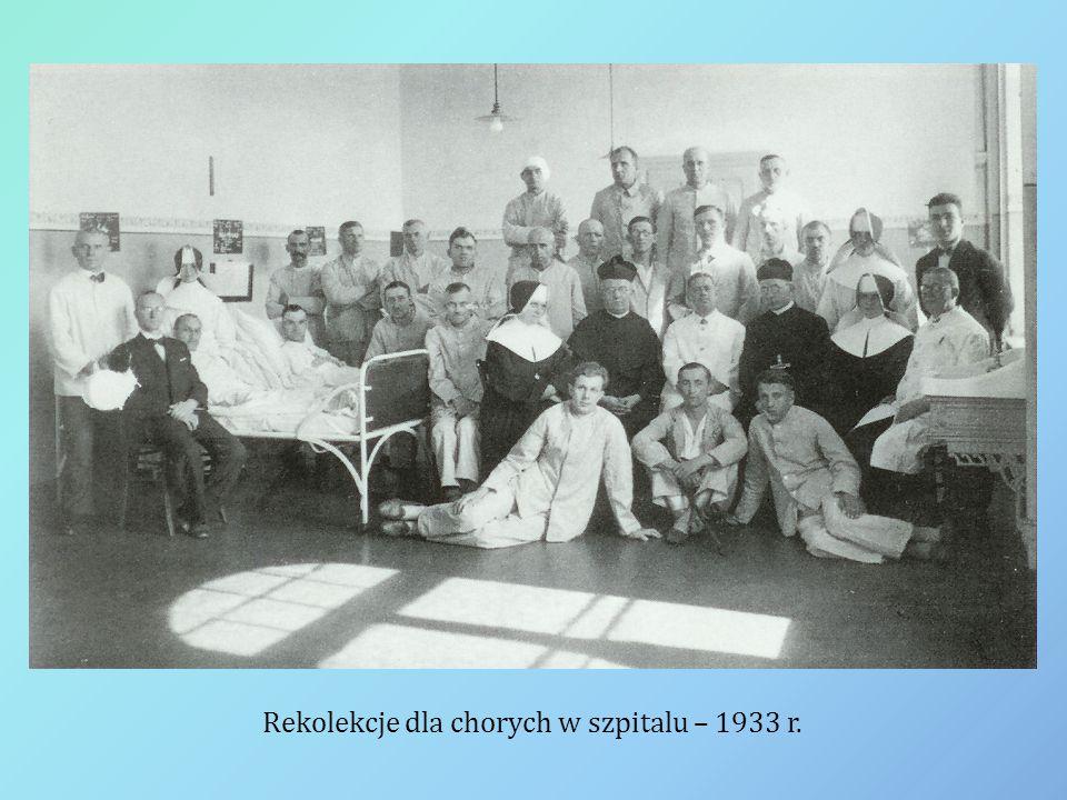 Rekolekcje dla chorych w szpitalu – 1933 r.
