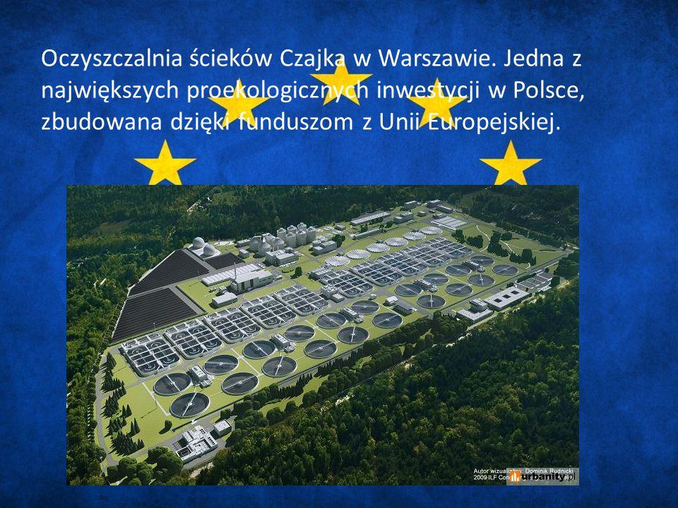 Oczyszczalnia ścieków Czajka w Warszawie.