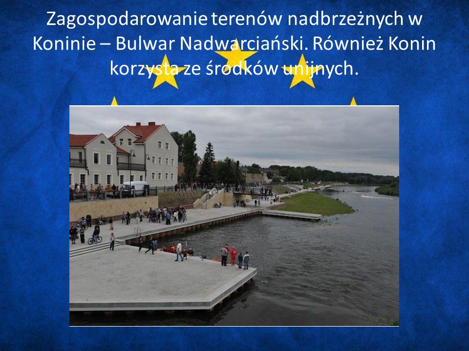 Zagospodarowanie terenów nadbrzeżnych w Koninie – Bulwar Nadwarciański.