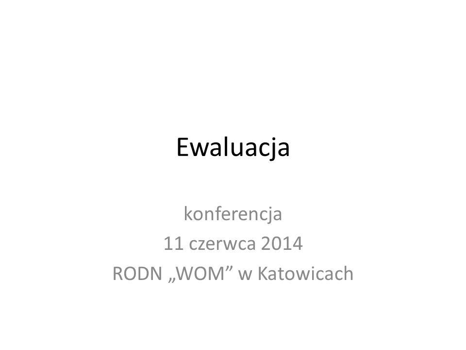 """Ewaluacja konferencja 11 czerwca 2014 RODN """"WOM w Katowicach"""