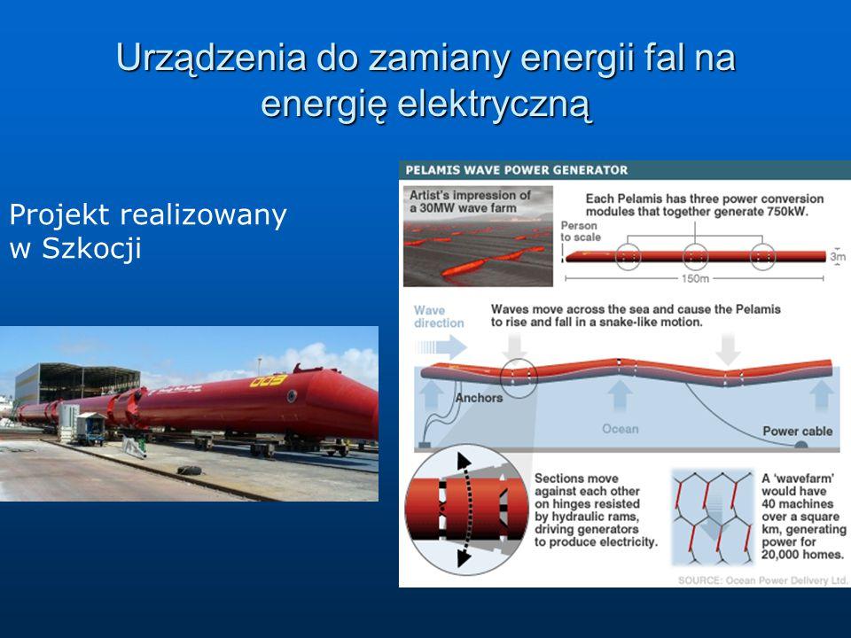 Urządzenia do zamiany energii fal na energię elektryczną Projekt realizowany w Szkocji