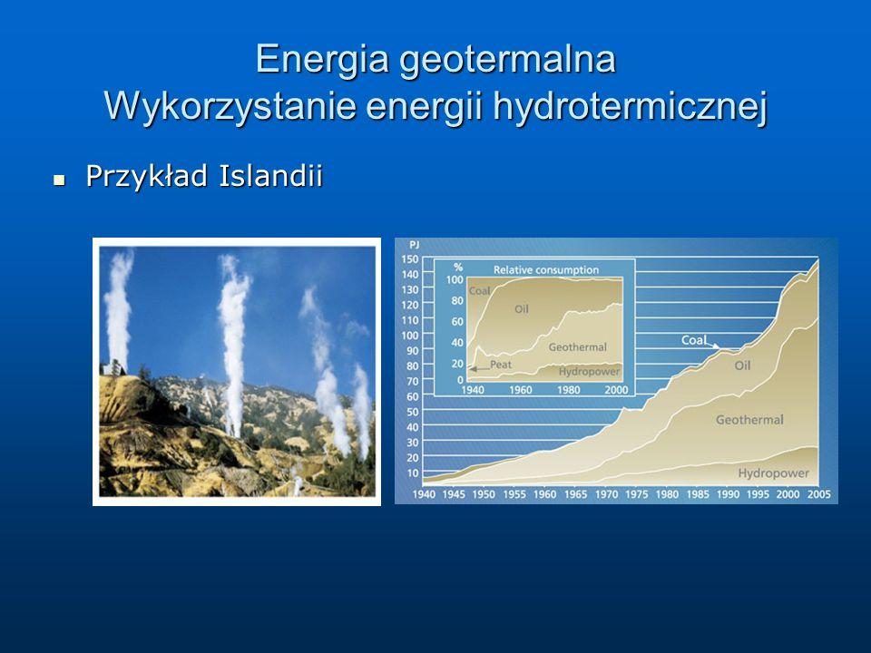 Energia geotermalna Wykorzystanie energii hydrotermicznej Przykład Islandii Przykład Islandii