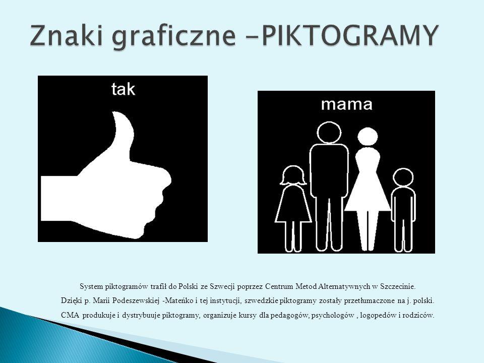 System piktogramów trafił do Polski ze Szwecji poprzez Centrum Metod Alternatywnych w Szczecinie. Dzięki p. Marii Podeszewskiej -Mateńko i tej instytu