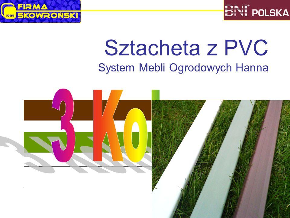 Sztacheta z PVC System Mebli Ogrodowych Hanna