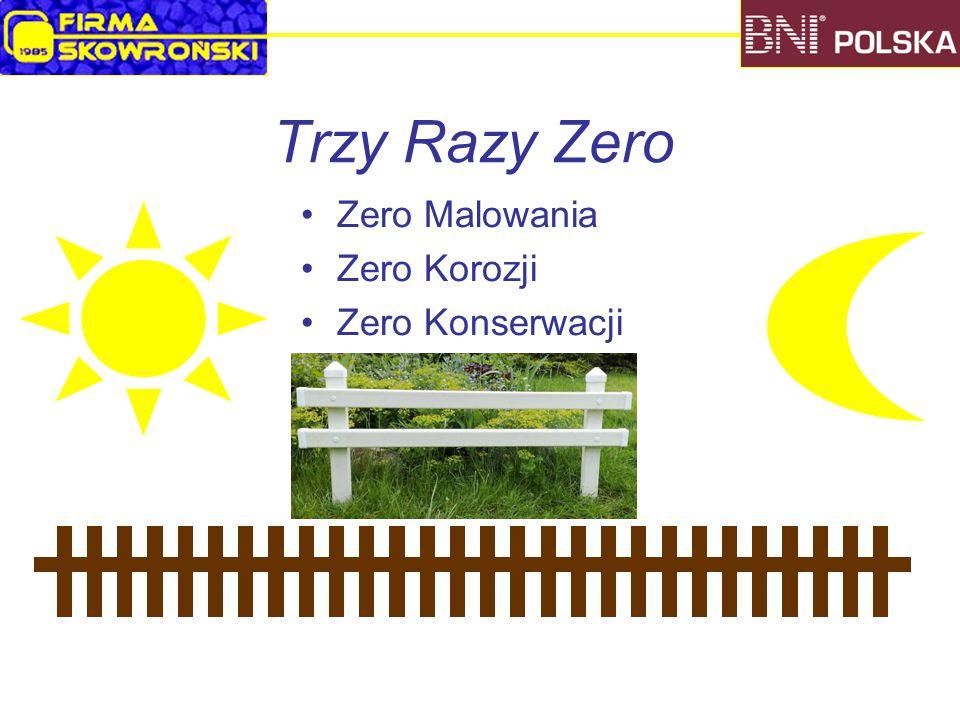 Trzy Razy Zero Zero Malowania Zero Korozji Zero Konserwacji