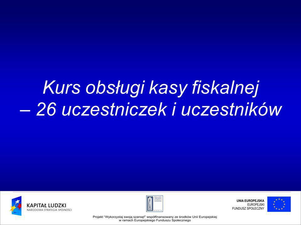 Kurs obsługi kasy fiskalnej – 26 uczestniczek i uczestników