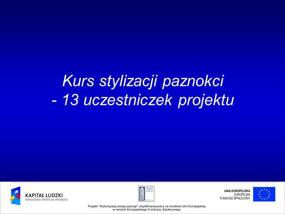 Kurs stylizacji paznokci - 13 uczestniczek projektu