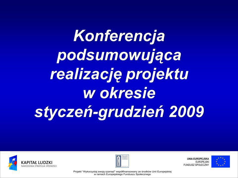 Konferencja podsumowująca realizację projektu w okresiew okresie styczeń-grudzień 2009styczeń-grudzień 2009
