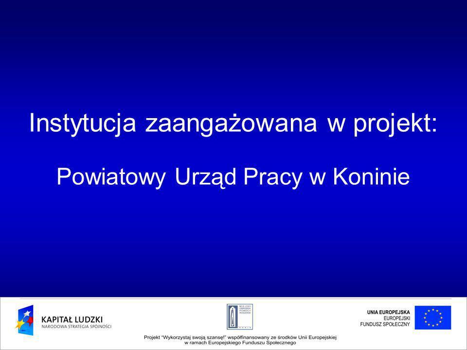 Instytucja zaangażowana w projekt: Powiatowy Urząd Pracy w Koninie