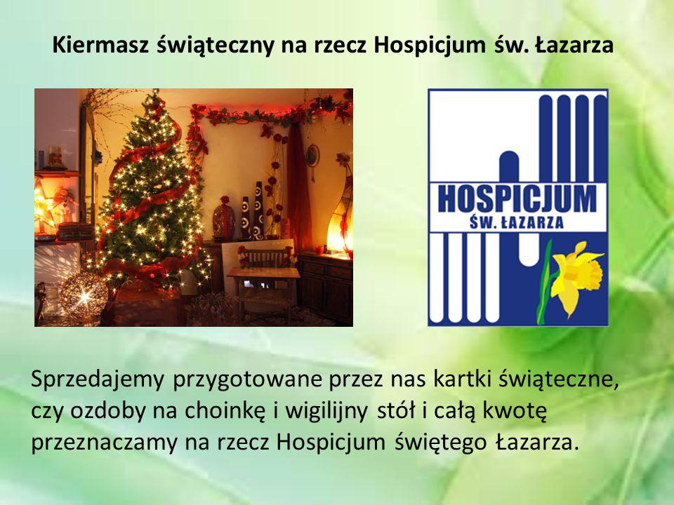 Kiermasz świąteczny na rzecz Hospicjum św.