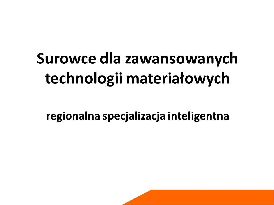 Surowce dla zawansowanych technologii materiałowych regionalna specjalizacja inteligentna
