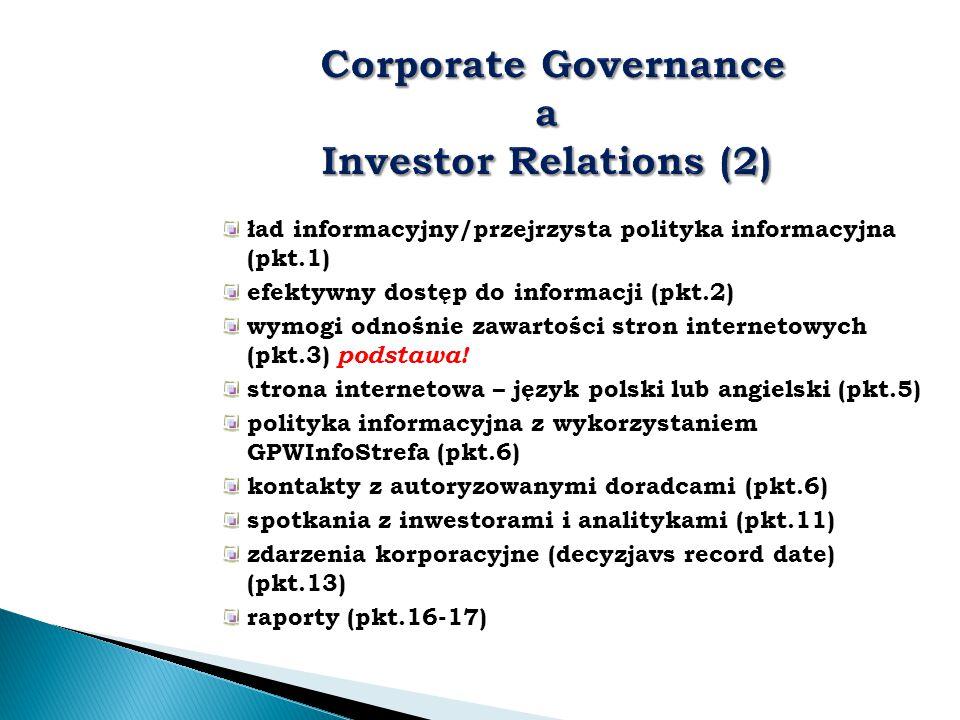 ład informacyjny/przejrzysta polityka informacyjna (pkt.1) efektywny dostęp do informacji (pkt.2) wymogi odnośnie zawartości stron internetowych (pkt.