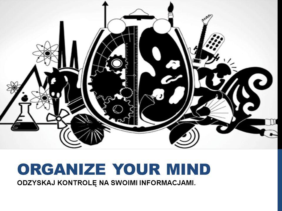 ODZYSKAJ KONTROLĘ NA SWOIMI INFORMACJAMI. ORGANIZE YOUR MIND