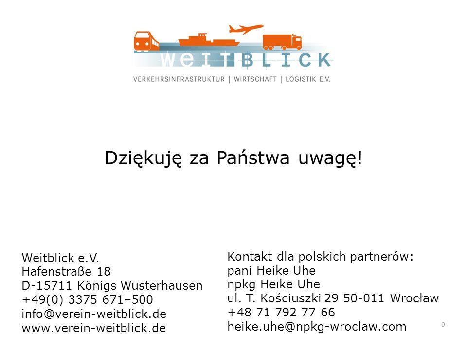 Dziękuję za Państwa uwagę. Weitblick e.V.