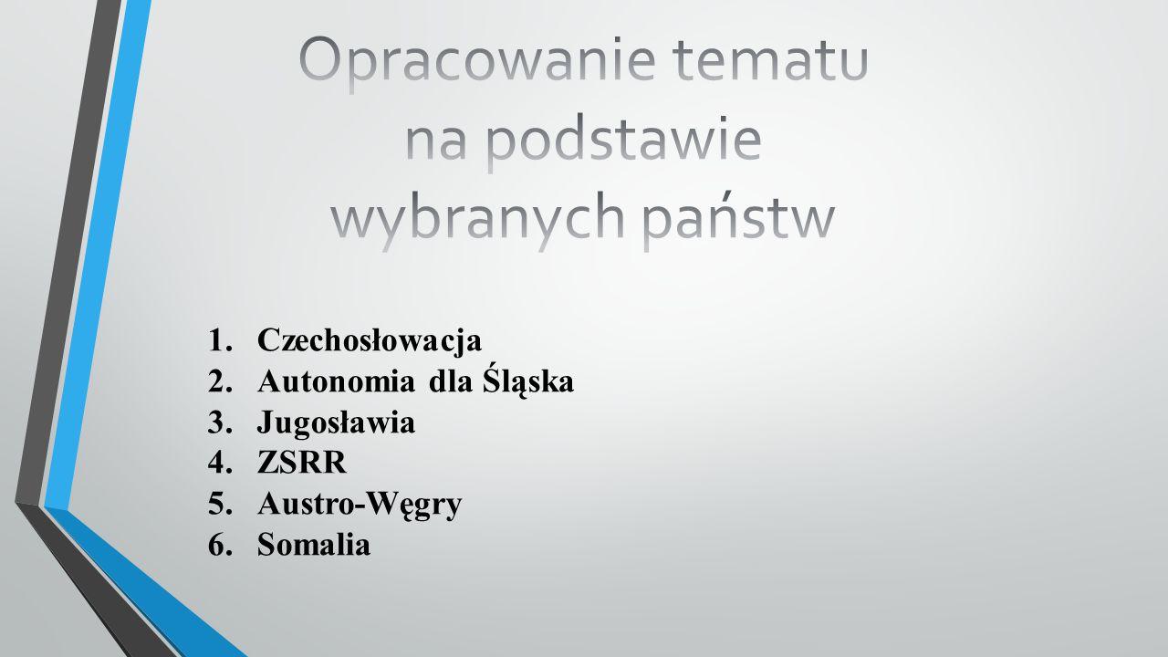 Czechosłowacja państwo w Europie Środkowej istniejące w latach 1918-1938 i 1945-1992.