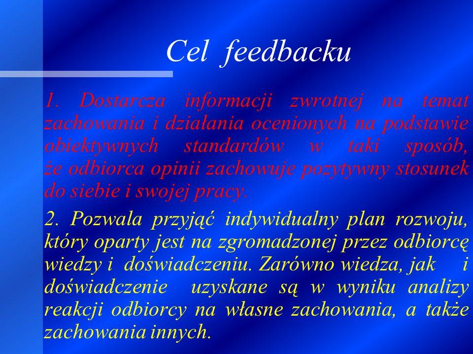 Cel feedbacku 1.