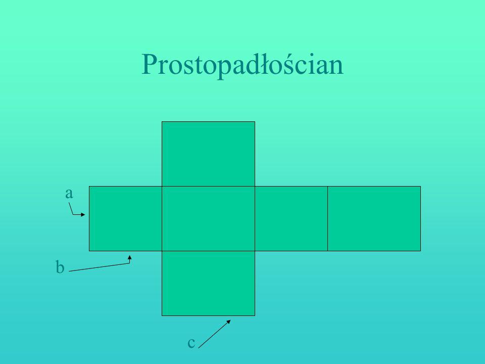 Prostopadłościan a b c
