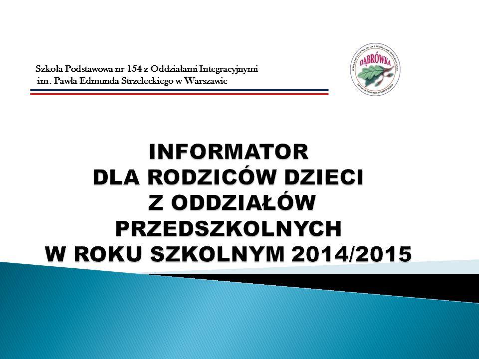 Przekazujemy Państwu informacje dotyczące oddziałów przedszkolnych funkcjonujących w naszej szkole.