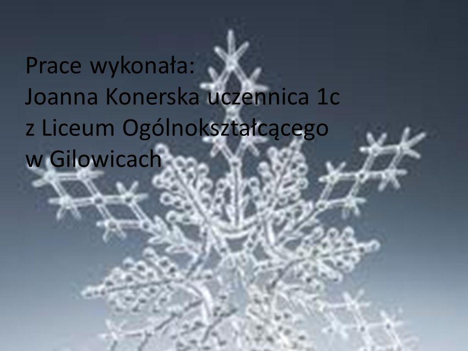 Prace wykonała: Joanna Konerska uczennica 1c z Liceum Ogólnokształcącego w Gilowicach