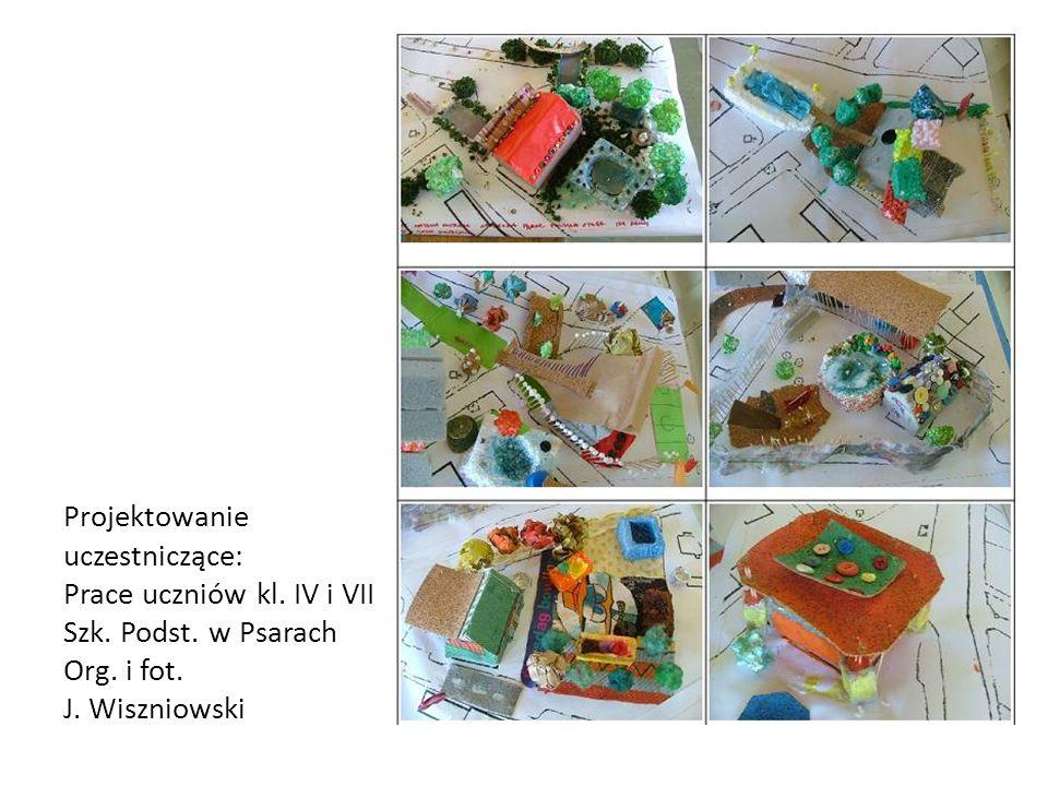 Projektowanie uczestniczące: Prace uczniów kl.IV i VII Szk.