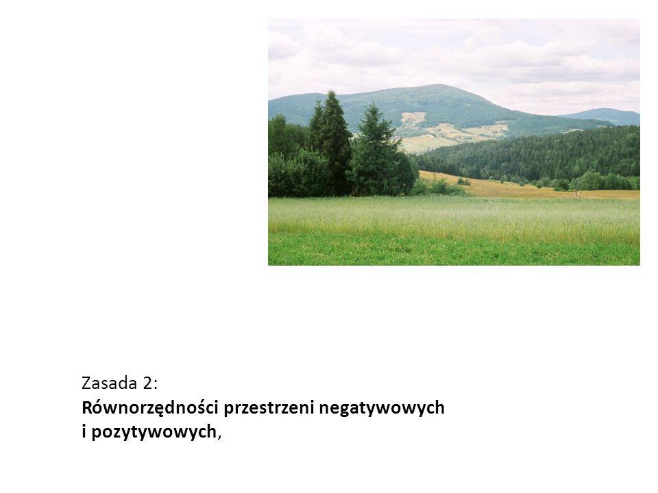 Zasada 2: Równorzędności przestrzeni negatywowych i pozytywowych,
