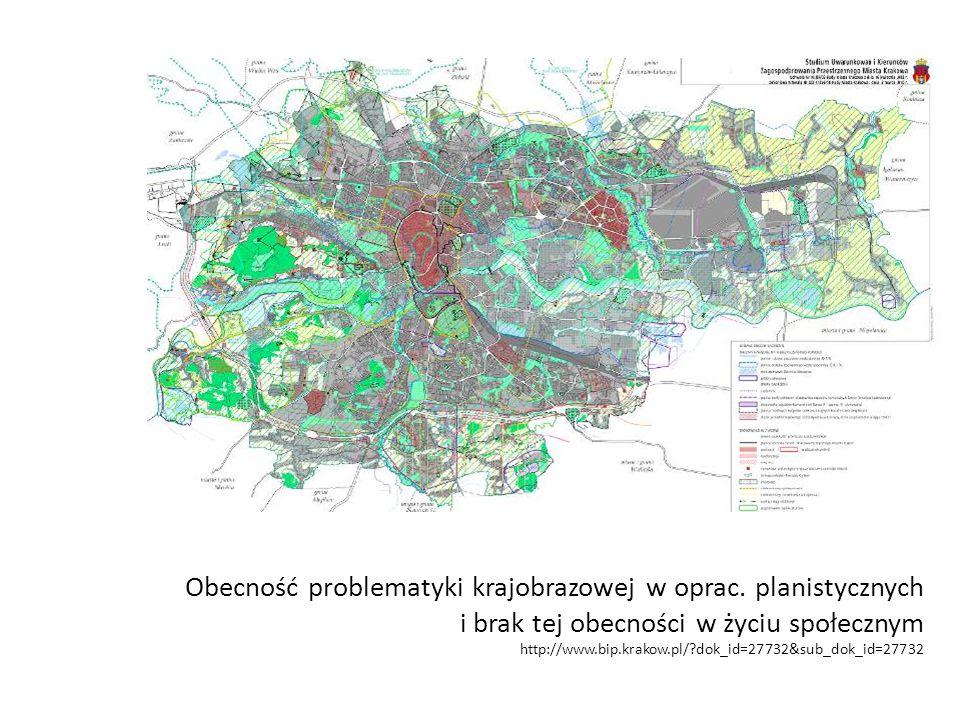 Obecność problematyki krajobrazowej w oprac.