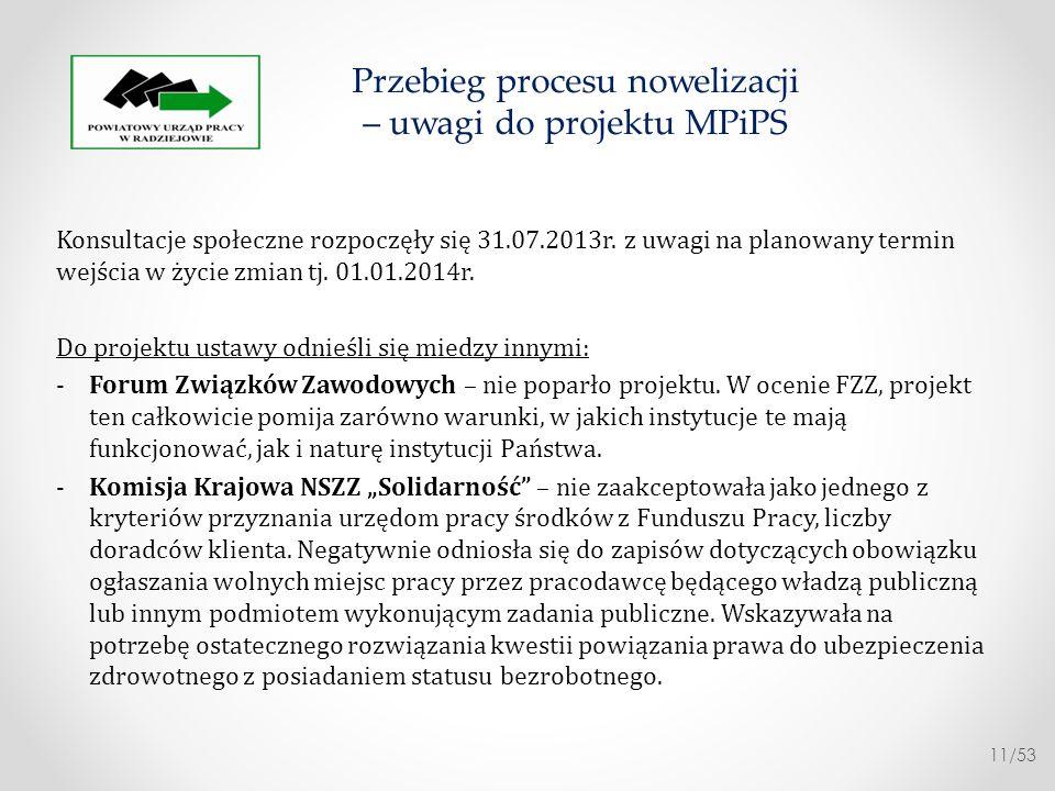 -Ogólnopolskie Porozumienie Związków Zawodowych – podtrzymało negatywną opinię dot.
