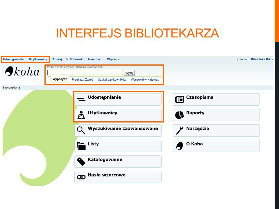 INTERFEJS BIBLIOTEKARZA