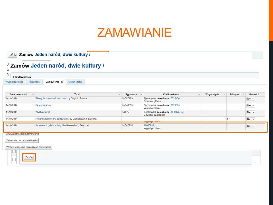 ZAMAWIANIE