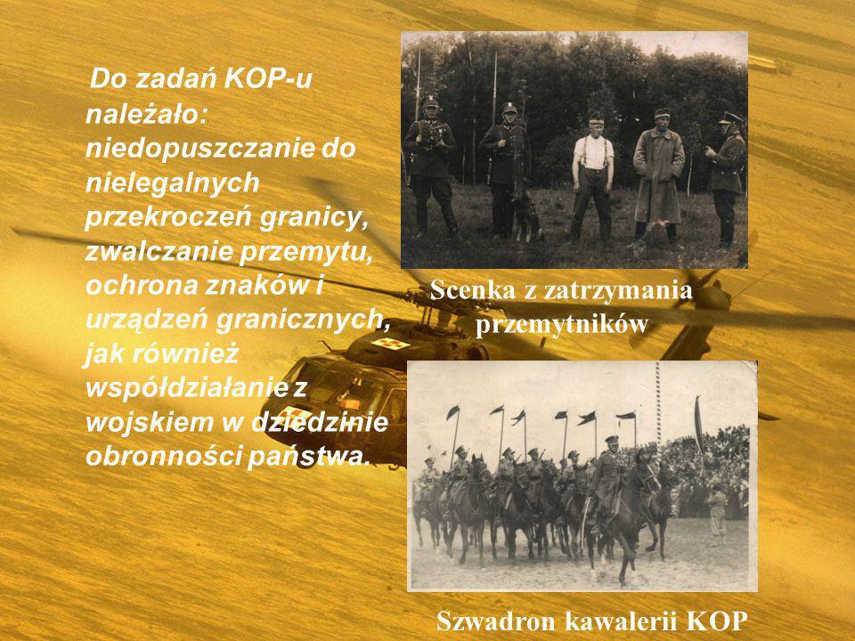 KOP był formacją o charakterze wojskowym, na czele, którego stało dowództwo.