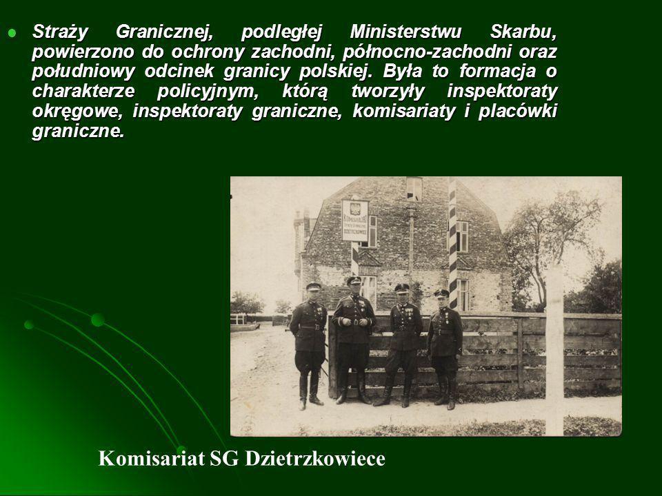 Straż Graniczna II RP Straż Graniczna powołana Rozporządzeniem Prezydenta RP Straż Graniczna powołana Rozporządzeniem Prezydenta RP z dnia z dnia 22 III.