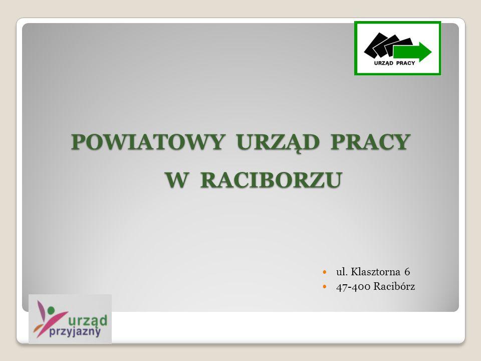 POWIATOWY URZĄD PRACY W RACIBORZU ul. Klasztorna 6 47-400 Racibórz