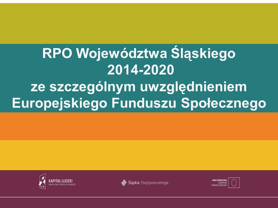 TYTUŁ PREZENTACJI RPO Województwa Śląskiego 2014-2020 ze szczególnym uwzględnieniem Europejskiego Funduszu Społecznego