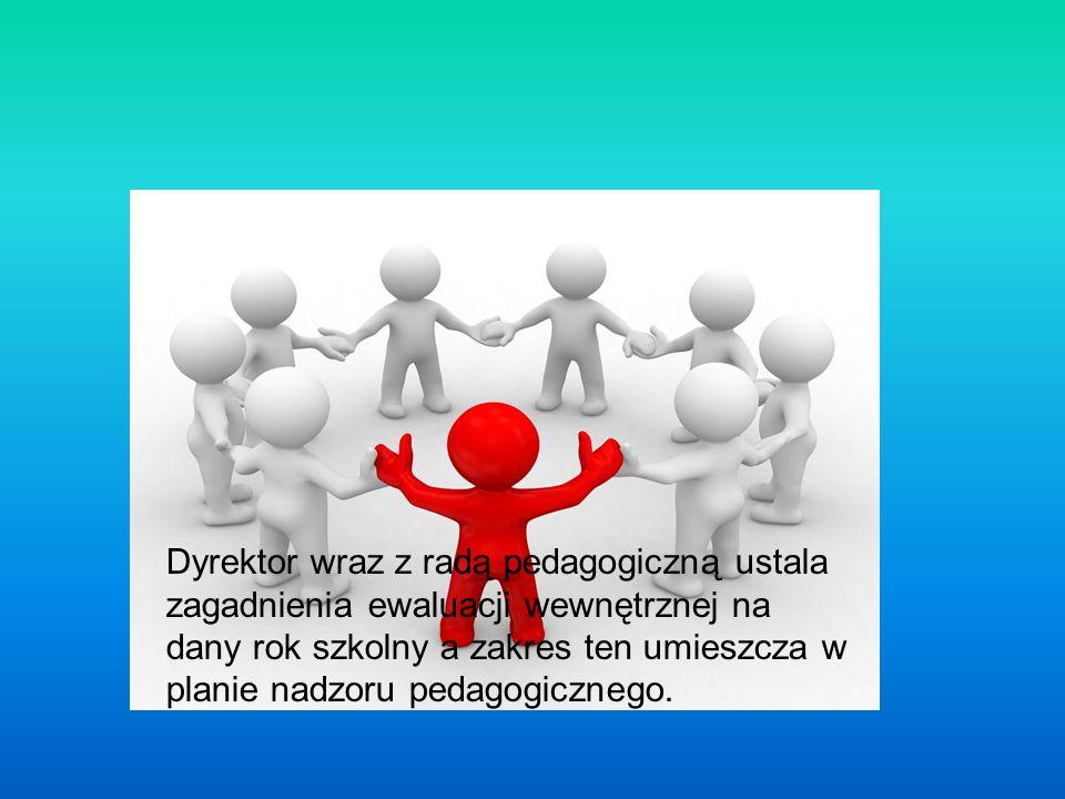 Zagadnienia zapisane w planie nadzoru pedagogicznego mogą być sumą badań ewaluacyjnych poszczególnych nauczycieli, bądź wynikać z potrzeb całej społeczności.