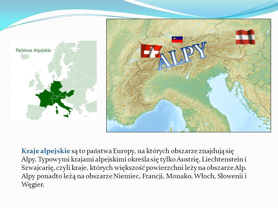 Kraje alpejskie są to państwa Europy, na których obszarze znajdują się Alpy.