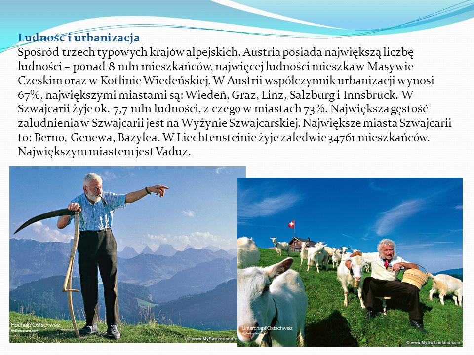 Gospodarka Kraje alpejskie należą do państw wysoko rozwiniętych gospodarczo.
