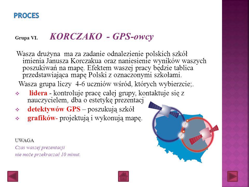 Grupa V. KORCZAKO - PIOSENKARZE Zespół ma za zadanie napisanie słów i muzyki do piosenki o Januszu Korczaku oraz zaprezentowanie swojej tworczości Was