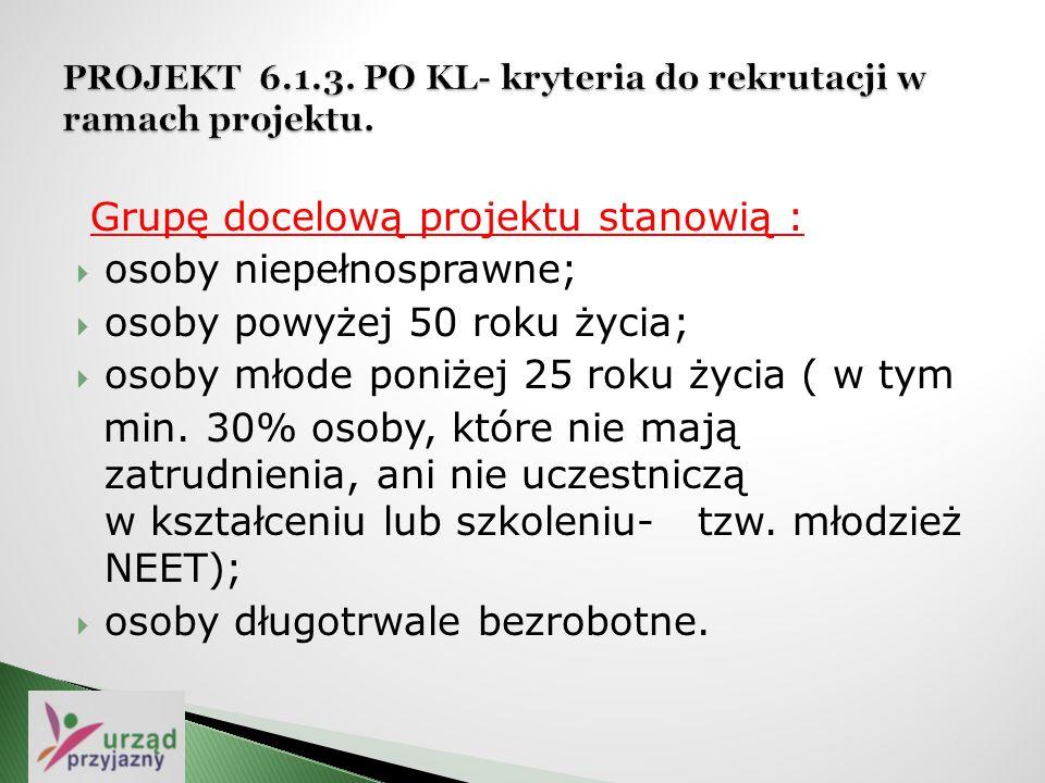 """ Projekt 6.1.2 POKL """" Osiągnąć standard IV , wartość projektu 165.314,60 zł, czas realizacji 2013/ IV 2014r."""