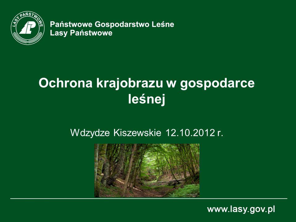 Ochrona krajobrazu w gospodarce leśnej Wdzydze Kiszewskie 12.10.2012 r.