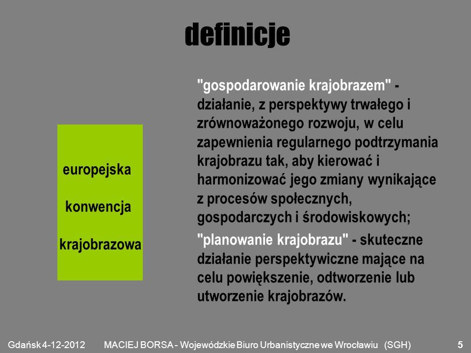 """MACIEJ BORSA - Wojewódzkie Biuro Urbanistyczne we Wrocławiu (SGH) podejście """"planistyczne Czym jest dziś planowanie przestrzenne."""