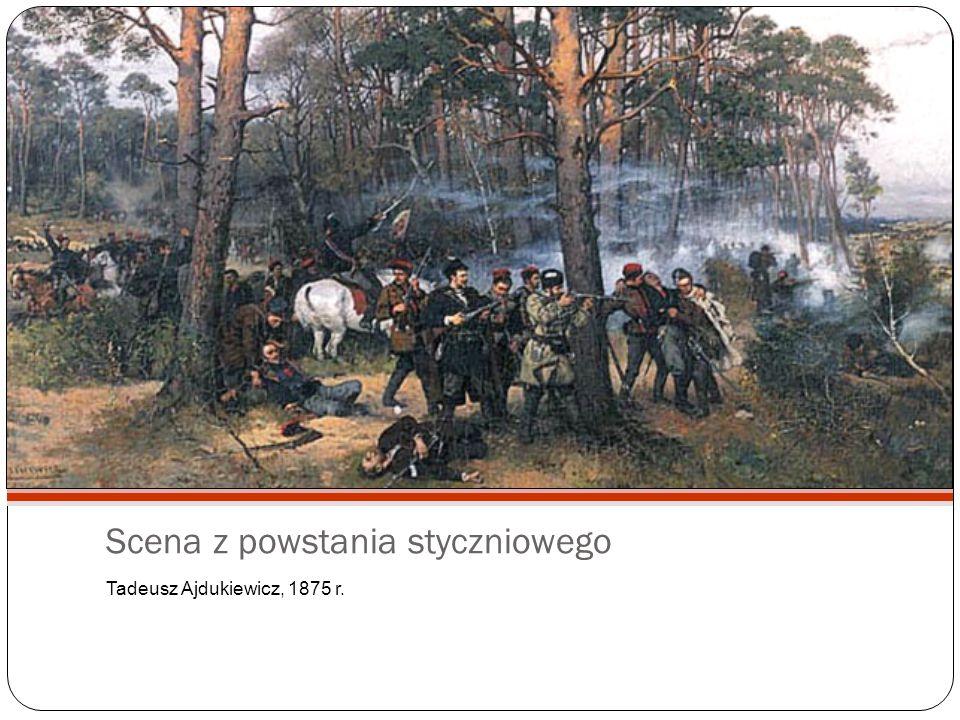 Scena z powstania styczniowego Tadeusz Ajdukiewicz, 1875 r.