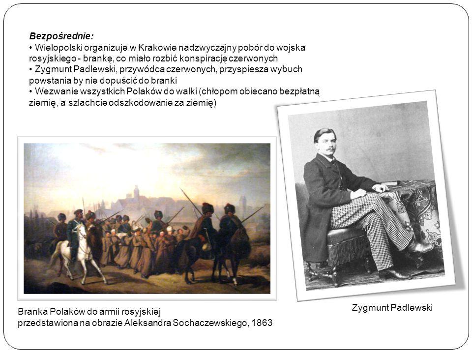 Bezpośrednie: Wielopolski organizuje w Krakowie nadzwyczajny pobór do wojska rosyjskiego - brankę, co miało rozbić konspirację czerwonych Zygmunt Padl
