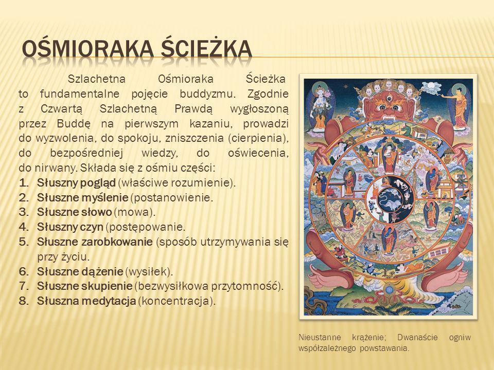 Szlachetna Ośmioraka Ścieżka to fundamentalne pojęcie buddyzmu. Zgodnie z Czwartą Szlachetną Prawdą wygłoszoną przez Buddę na pierwszym kazaniu, prowa