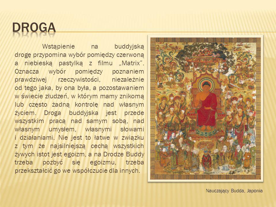"""Wstąpienie na buddyjską drogę przypomina wybór pomiędzy czerwoną a niebieską pastylką z filmu """"Matrix"""". Oznacza wybór pomiędzy poznaniem prawdziwej rz"""