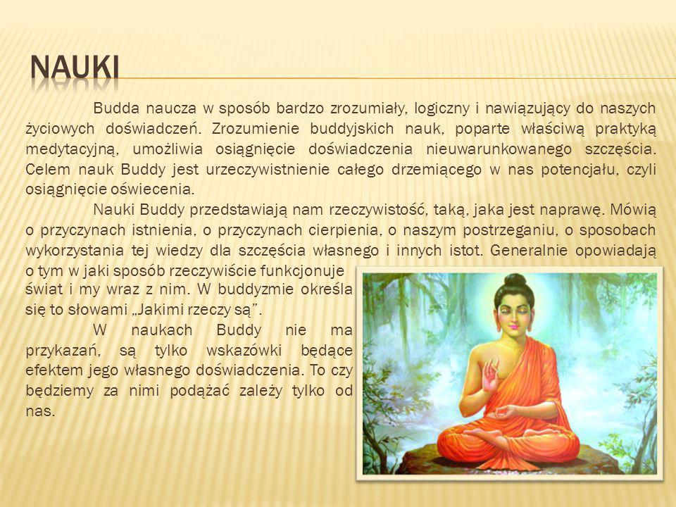 Budda naucza w sposób bardzo zrozumiały, logiczny i nawiązujący do naszych życiowych doświadczeń. Zrozumienie buddyjskich nauk, poparte właściwą prakt