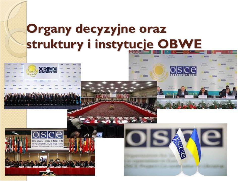 Organy decyzyjne oraz struktury i instytucje OBWE